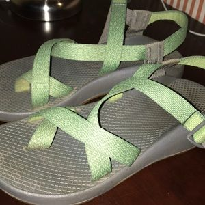 Green one strap Chacos